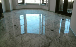 Marble Floor after being polished