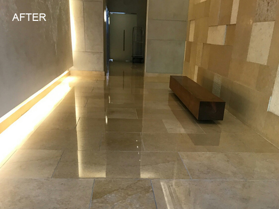 Luxury Lobby and Elevator Refinished